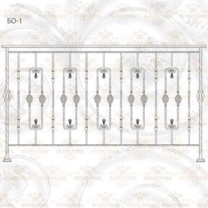 Балконное ограждение БО-1 Размер ШхВ: 2000х1140