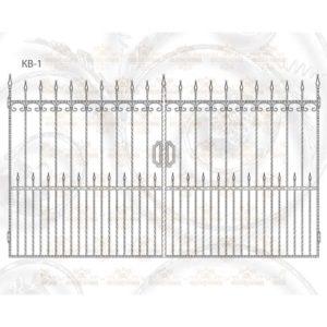 Кованые ворота КВ-1 Размер ШхВ: 3400х2000