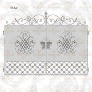 Кованые ворота КВ-14 Размер ШхВ: 2700х2000(1650)