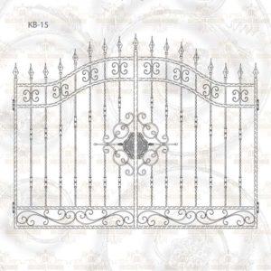 Кованые ворота КВ-15 Размер ШхВ: 2700х1890