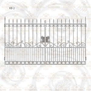 Кованые ворота КВ-2 Размер ШхВ: 3416х1800